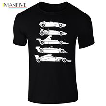 Mens Evolution Of The Formula F Car 1 One T-shirt S-XXXL New T Shirts Funny Tops Tee Unisex