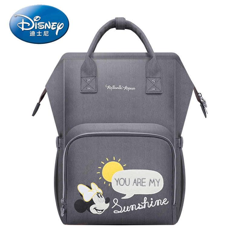 Disney saco de fraldas saco do bebê dos desenhos animados múmia maternidade saco de fraldas marca à prova de água mochila de viagem designer de cuidados com a enfermagem