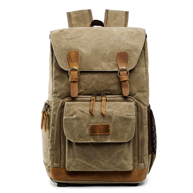 Batik Canvas Waterproof Photography Bag Outdoor Wear-resistant Large Photo Camera Backpack Men for Fujifilm Nikon Canon Sony