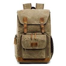 Batik холст водонепроницаемая сумка для фотосъемки на открытом воздухе износостойкая большая фотокамера рюкзак для мужчин для Fujifilm Nikon Canon Sony