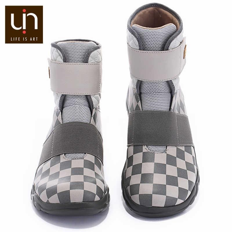UIN Halifax סדרת חם סתיו/חורף מגפי נשים מיקרופייבר זמש נעלי גבירותיי קרסול מגפי עבור חיצוני ספורט קל משקל