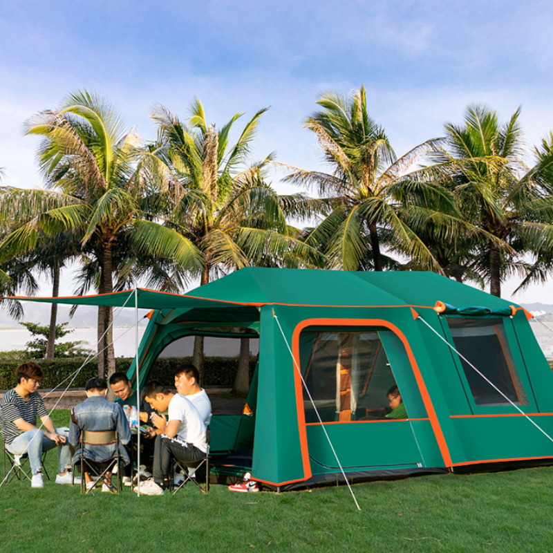 Gentle Automatic 2 Rooms 1 Hall 5-10 Person Use Double Layer Waterproof Four Season Windproof Camping Tent Large Gazebo