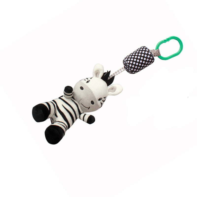 Cartoon Cute Black And White Zebra Baby Toy Move Baby Bed Pendant With Bell Enlightenment Toy Best Sellig