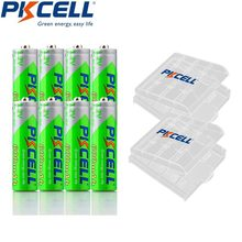 8 sztuk PKCELL NIMH akumulator AA wstępnie naładowane baterie LSD aa 600mAh do aparatu zabawki 1200 razy cykle i 2 sztuk box case