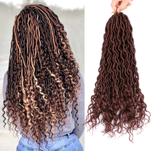 Braiding Hair Synthetic-Hair-18inch Hair-Extensions Crochet Faux-Locs Goddess Bellqueen