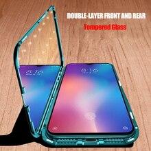 Металлический магнитный чехол для Xiaomi Redmi Note 7 8 K20 Pro, закаленное стекло, задние магнитные Чехлы, чехол для Xiaomi Mi 9 SE 9T Pro A3, чехол