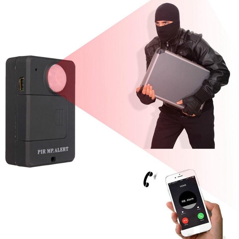 Mini PIR Motion Sensor Wireless Infrared GSM Alarm Monitor Motion Detector Detection Home Anti-Theft System EU Plug Plug