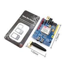 Módulo da quadrilátero faixa da placa de desenvolvimento do escudo de 10 pces sim900 gprs/gsm
