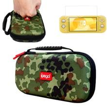 Nintendo switch lite 2019 estojo de proteção camuflado, bolsa de viagem para nintendo switch lite mini console