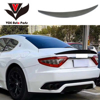Carbon Fiber Car styling Sporty Rear Trunk Wing Spoiler for Maserati GranTurismo GT GTS 2007 2014