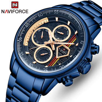 Mens Watches Top Luxury Brand NAVIFORCE Stainless Steel Quartz Watch for Men Business Casual Sports Male Clock Relogio Masculino luxury watches for men stainless steel watch mens business quartz wristwatches man simple whatch clock relogio masculino reloj