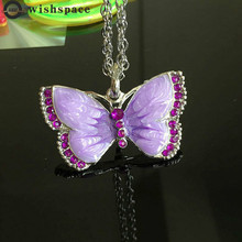 New long butterfly pendant alloy necklace female fashion jewelry wholesale 2015 new arrival fashion alloy necklace cicada pendant necklace wholesale