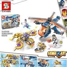 цена на Marvel Avengers 4 Super Heroes Endgame Iron Man Captain America Spider War Thanos Hulk Building Blocks Figures Toys For Children