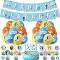 Bruy тема бинго 12 дюймов латексные шары для дня рождения ребенка Bluey фестиваль праздновать домашним питомцем вечерние флаг фигурки жениха и н...