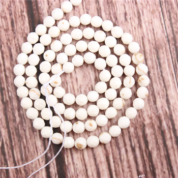 White Fossil Beads Natural Stone Beads 2/3mm Pine Beads Space Beads Jewelry Making Necklace DIY фото