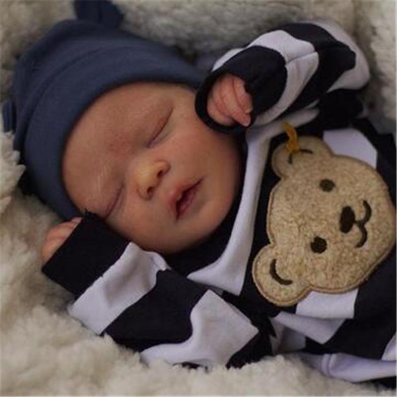 RBG 17 дюймов 43 см для ухода за ребенком для мам виниловая Кукла реборн комплект сна и бодрствования, похожая на настоящую Real Soft Touch незавершенн...