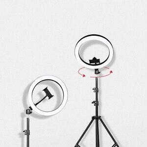 Image 5 - Live Stream Beauty Self Timer Fill Light Photography Tripod Adjustable LED Portable Night Enhanced Mobile Phone Ring Lamp