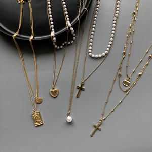 Fashion punk multi-layered Chain necklace New Style Female metal pendant necklace for women Jewelry girl party gift hot selling