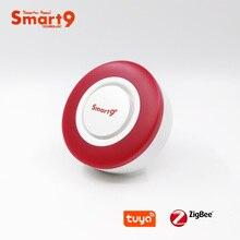 Smart9 ZigBee alarme Hooter fonctionnant avec le Hub TuYa ZigBee, sirène intelligente avec lautomatisation du son et de la lumière Flash par lapplication de vie intelligente