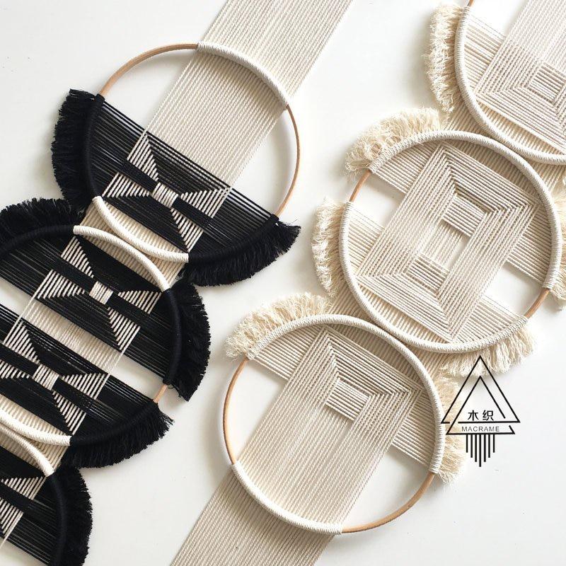 100% ручной работы творческое, настенное плетеное гобелен Скандинавское украшение домашний Ловец снов украшение для дома - 2