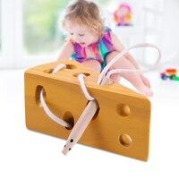 Spor ve Eğlence'ten Dış Mekan Aletleri'de Yeni ahşap peynir labirent oyuncaklar bağlama oyunu erken öğrenme çocuklar için eğitim çocuklar LMH66