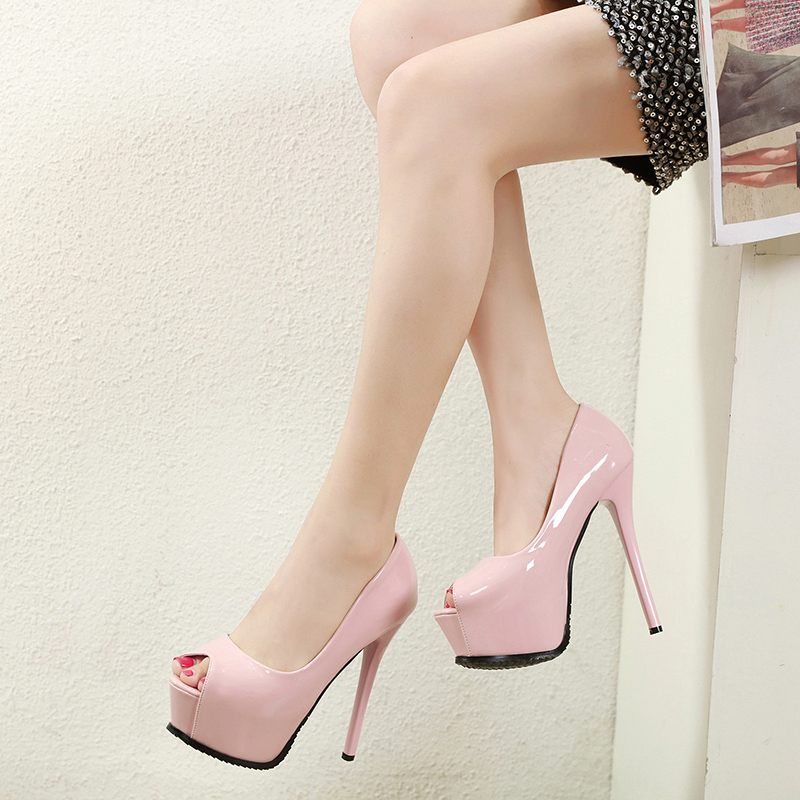 Купить с кэшбэком NIUFUNI Platform Peep Toe Women's Pumps Black Pink Elegant Stiletto High Heels Pumps Office Wedding Banquet Woman Shoes 34-39