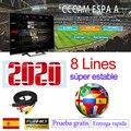 2020 Cccam espa eine spanien 1 jahr stabile 8 Linie server HD cline ccam espa eine Europa Portugal Polen Italia für satellite empfänger-in Satelliten-TV-Receiver aus Verbraucherelektronik bei