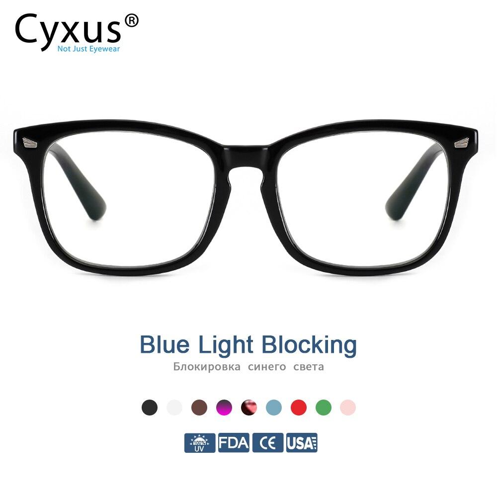 Cyxus Blue Light Blocking Computer Glasses  Anti UV Fatigue Headache Eyeglasses Clear Lens Gaming Eyewear For Mens Women  8082