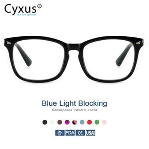 Image 1 - Cyxus Blue Light Blocking Computer Glasses  Anti UV Fatigue Headache Eyeglasses Clear Lens Gaming Eyewear for Mens Women  8082