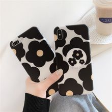 flower phone case for iphone 7/8/6/6s plus For X/XR/XSMAX Soft TPU Cover Fashion Flower Phone Case