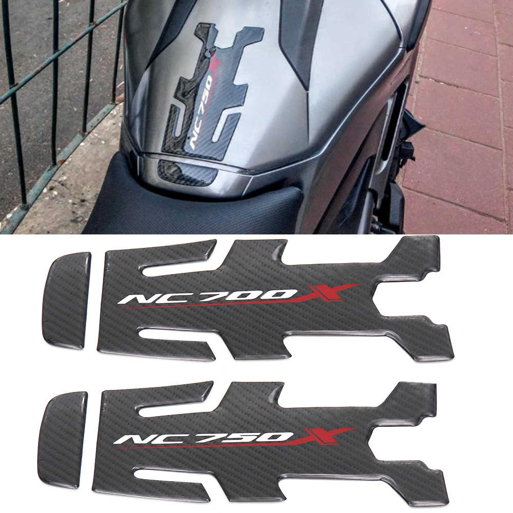 ملحقات الدراجات النارية من ألياف الكربون لخزان الوقود والوقود والوسادة Tankpad لاصق حامي ملصق لهوندا NC750X NC 750X NC700 NC700X