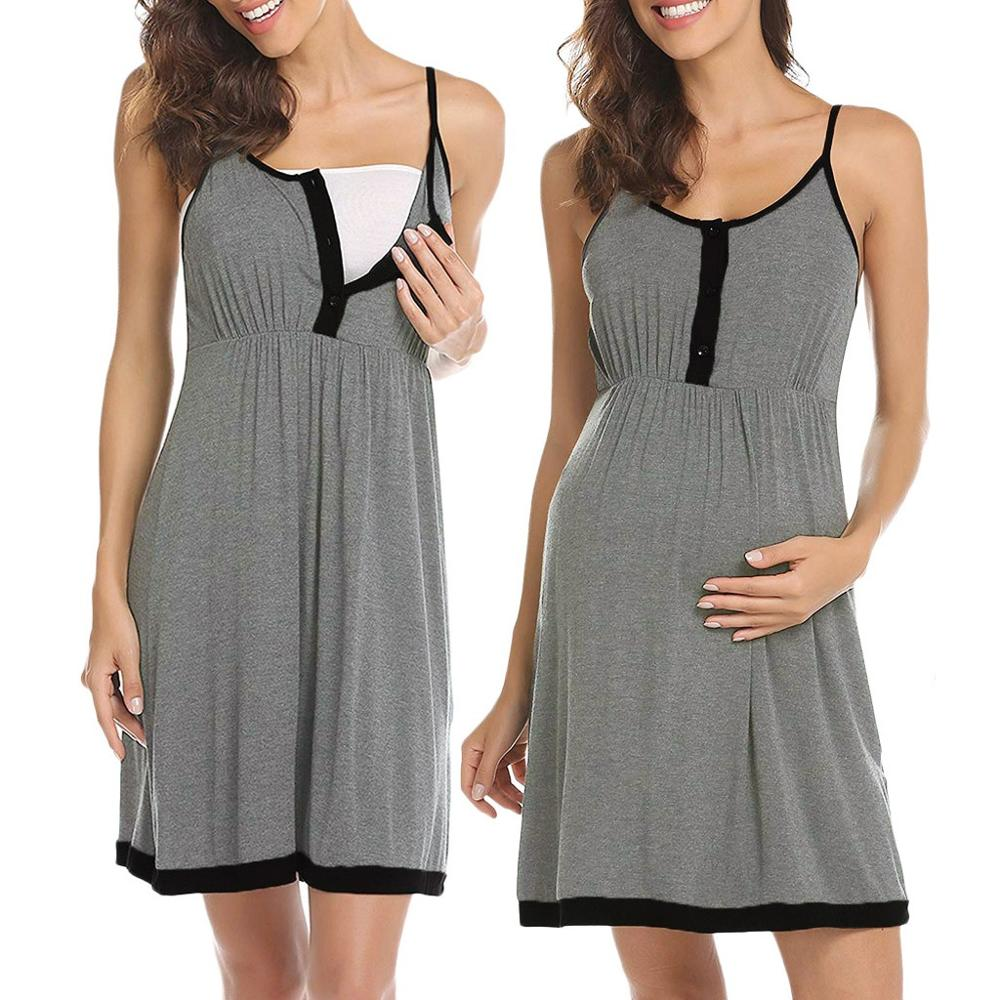 Ekouaer Labor Nightgowns for Breastfeeding Delivery Nursing Maternity Hospital Gown