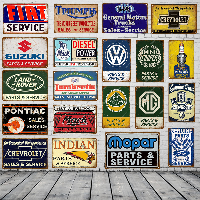 Garage Motors Poster Vintage Metal Signs Tin Poster Retro Home Decor Shabby Chic Tinplate Motorcycle metal poster 20x30 cm