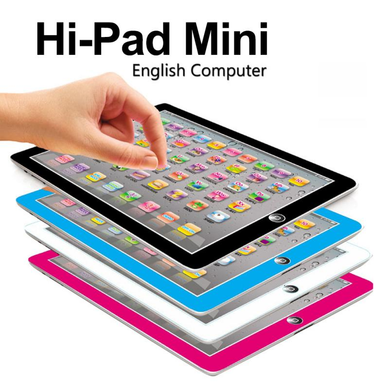 English Learning Machine Kids <font><b>Laptop</b></font> Children tablet infantil <font><b>Toys</b></font> Educational learning <font><b>toys</b></font> for Baby 4 colors image