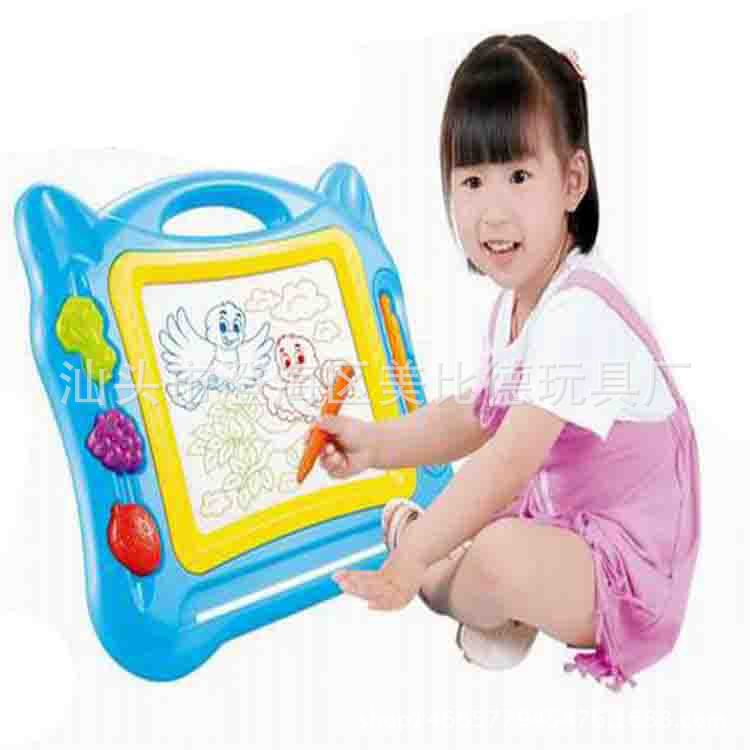 Children Early Education Toy Large Size Color Magnetic Stamp Sketchpad Easel Painting Doodle Board Magnetic Drawing Board