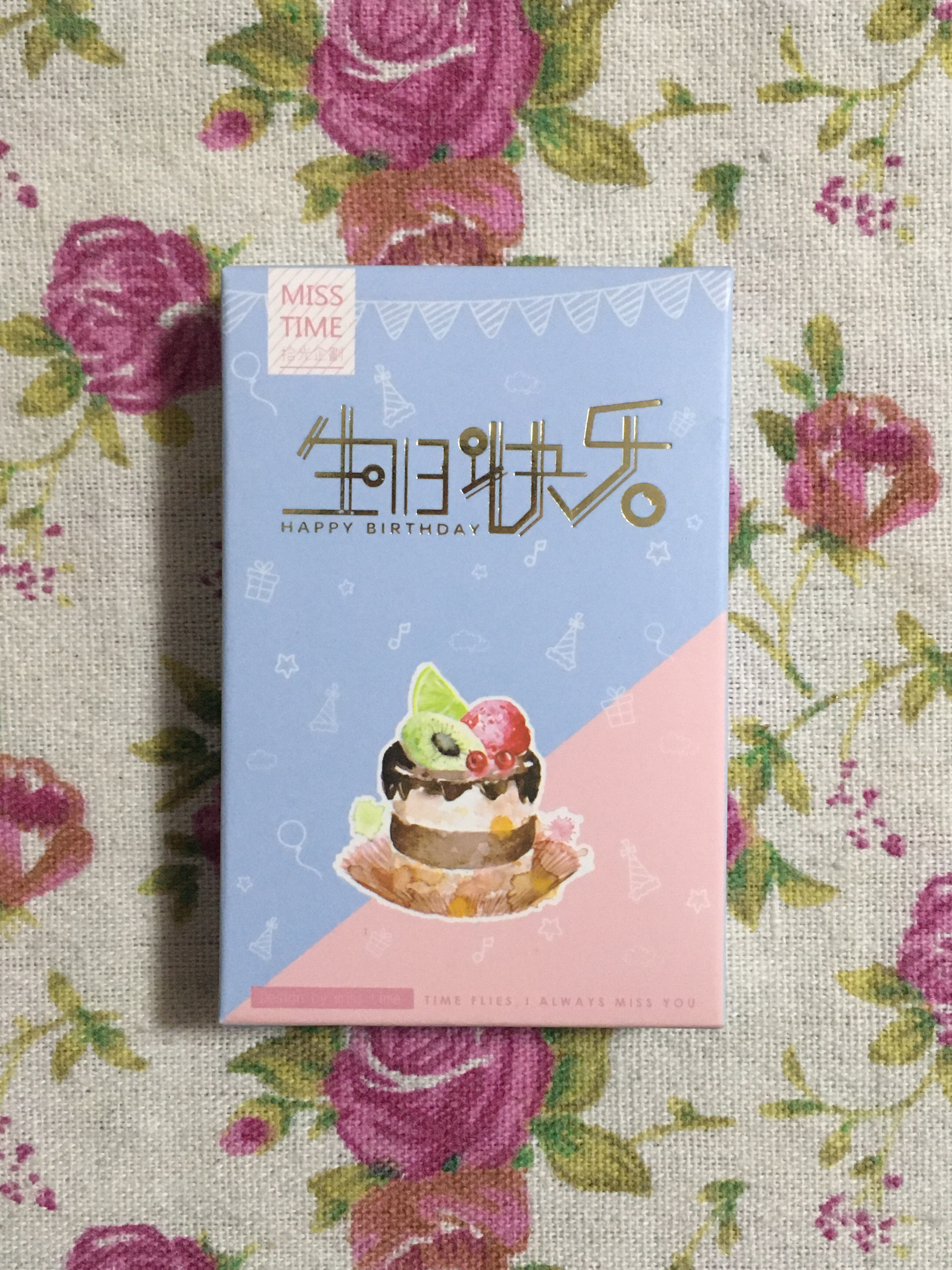 L208- Happy Cake Paper Greeting Card Lomo Card(1pack=28pieces)