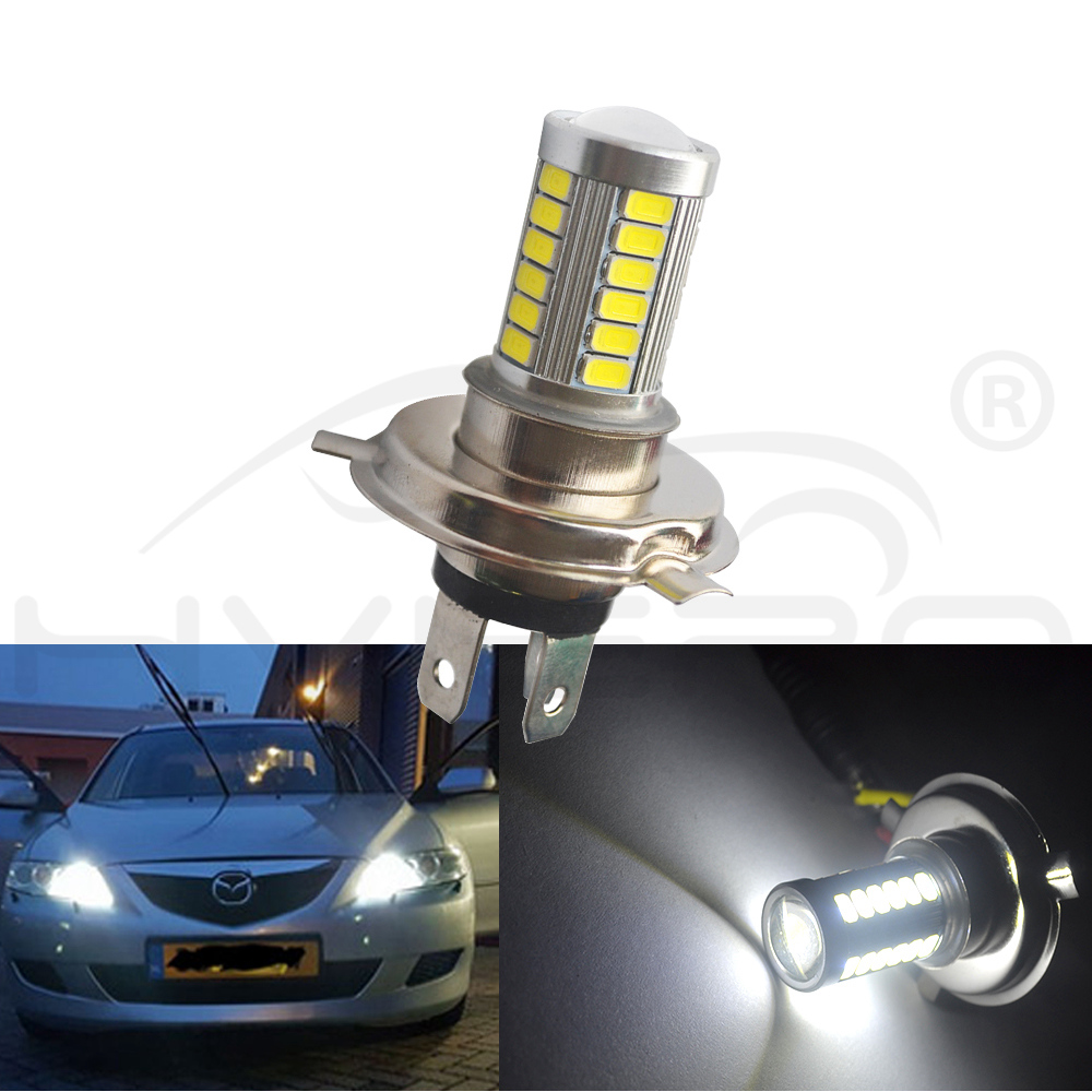 H8 H9 9005 9006 1156 1157 Auto Headlight 5630 33Led 6000K 800Lm Bright White Daytime Running Light DC 12V Fog Lamp Bulb HeadLamp in LED Bulbs Tubes from Lights Lighting