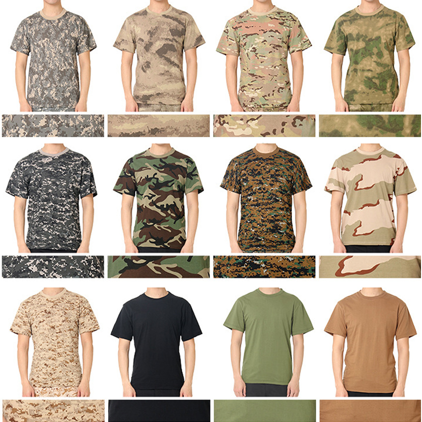 ACU CP Men Summer Military Uniform Short Sleeve T-shirt Tactical Combat Tees Camouflage Airsoft Battle Desert Tops For Male