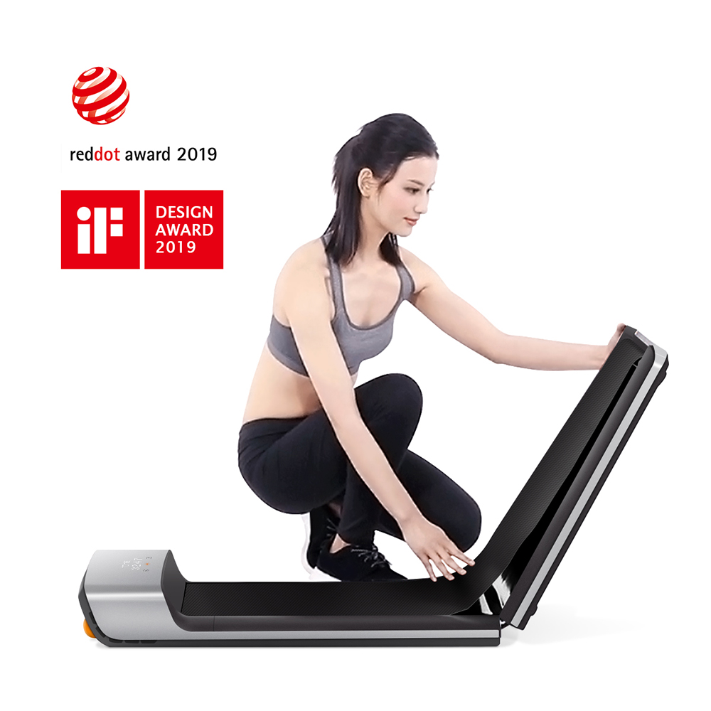 Folding Walking Pad Ultra Thin Smart Electric Walking Machine Treadmill 0.5 - 6km/h Manual Automatic Modes Lightweight Strong