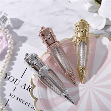 1pc 3ml 5ml Rose Gold Crown Plastic Empty Carrot Lip Gloss Tube Cosmetic Wand Lipgloss Packaging Container DIY Lipstick Tube New