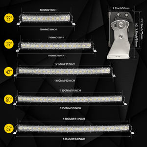 Image 5 - Co Licht 22 32 42 50 Inch Gebogen Led Light Bar Strobe Combo 390W 585W 780W 936W 3 Rij Voor Rijden Offroad Auto Vrachtwagen 4X4 Suv 12V