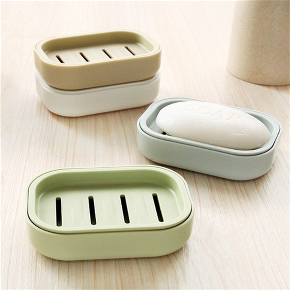 2019 New Bathroom Dish Plate Case Home Shower Travel Hiking Holder Container Soap Box Plastic Soap Box Dispenser Soap Rack
