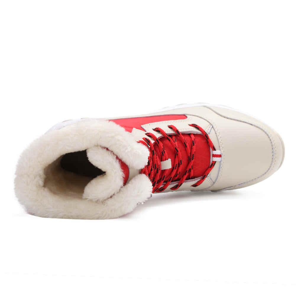 Doratasia Kırmızı Bej Açık Kalite Çizme Kadın Ayakkabı Kaymaz Su Geçirmez Rusya Kış Kar çizmeler kadın ayakkabıları Sıcak Kürk
