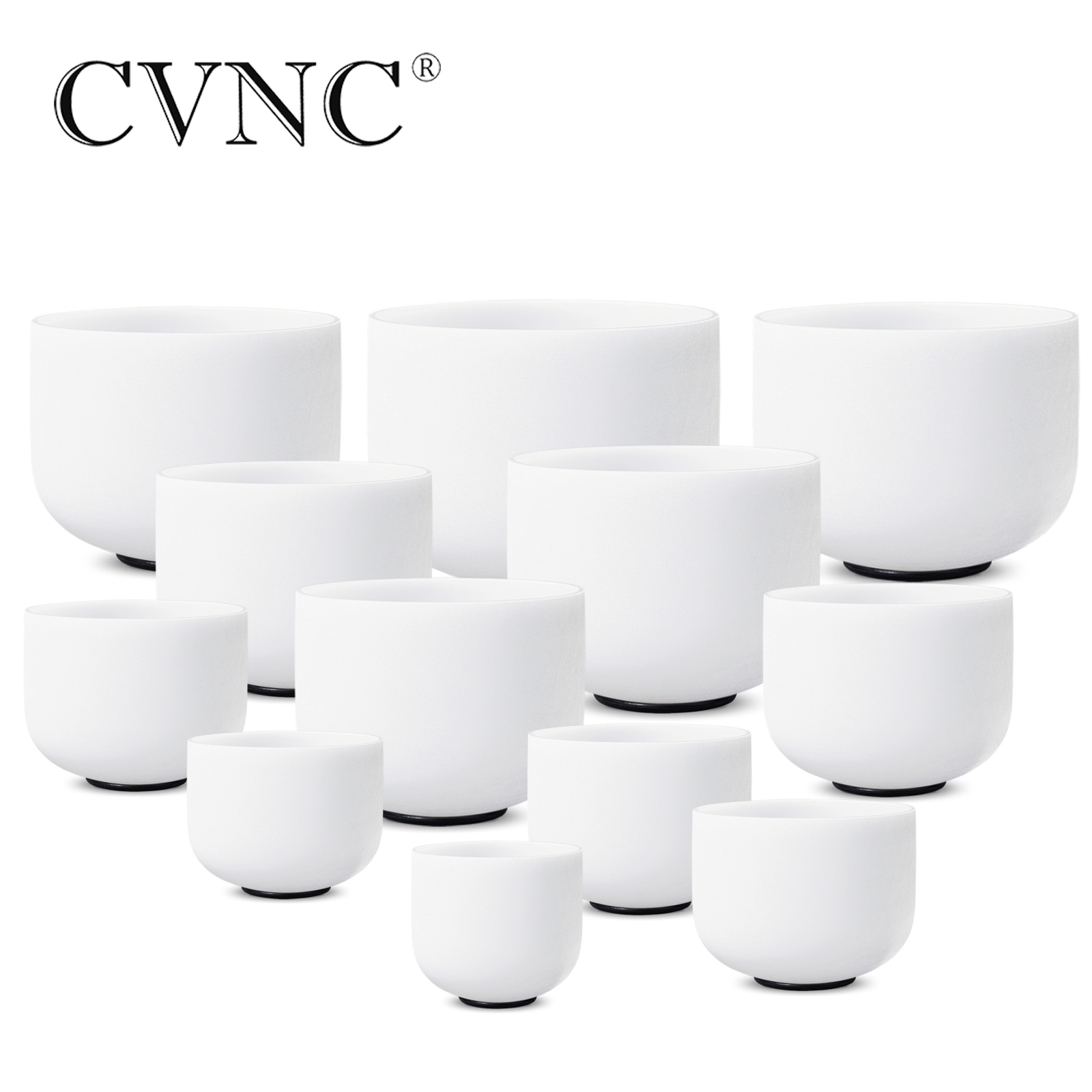 """CVNC 8 """"-14"""" chacra sintonizado cffgabc # D # F # G # A # conjunto de 12 Uds. De cuenco de cristal de chakra"""