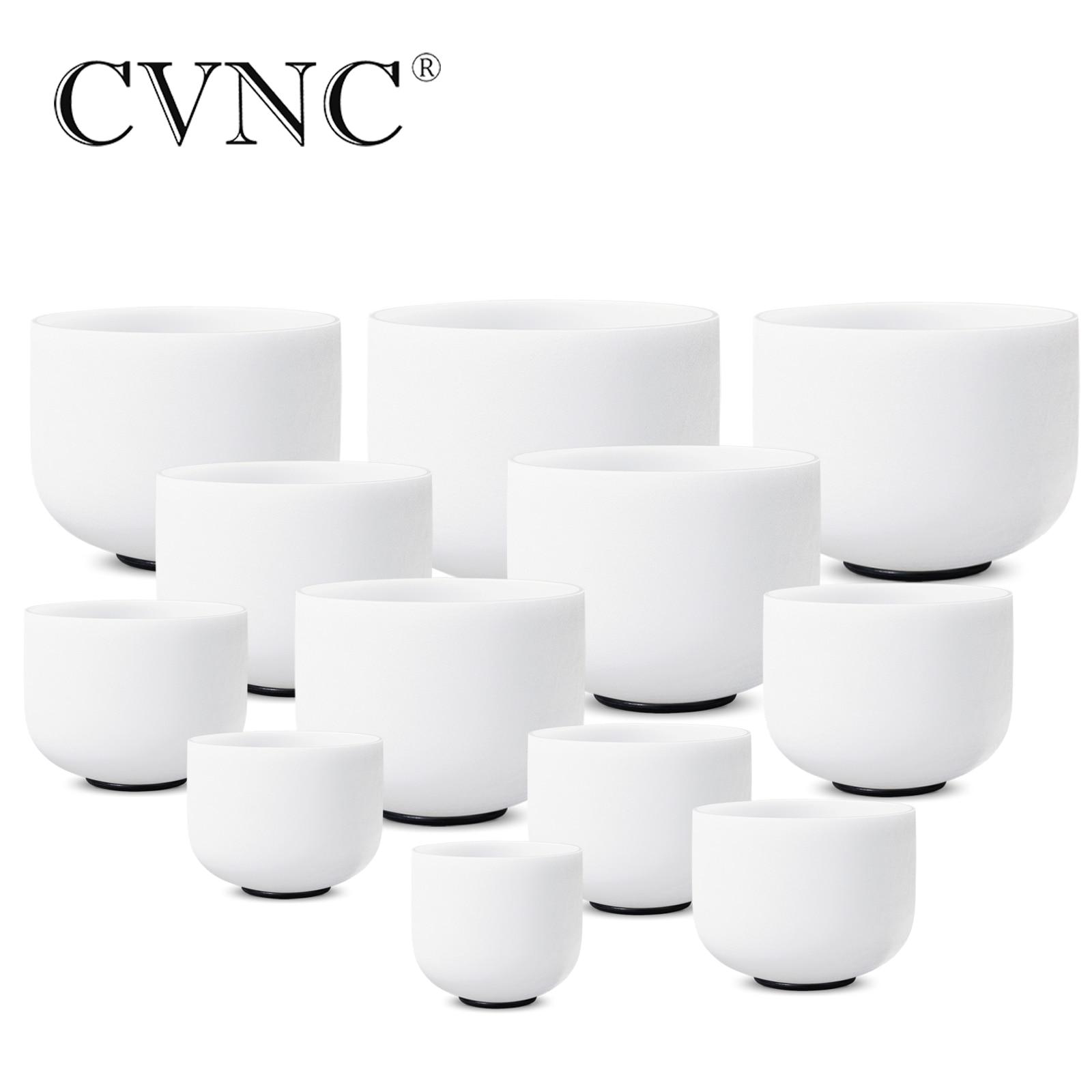 CVNC 8 -14 chakra accordé CDEFGABC # D # F # G # A # ensemble de 12 pièces chakra cristal chantant ensemble de bol