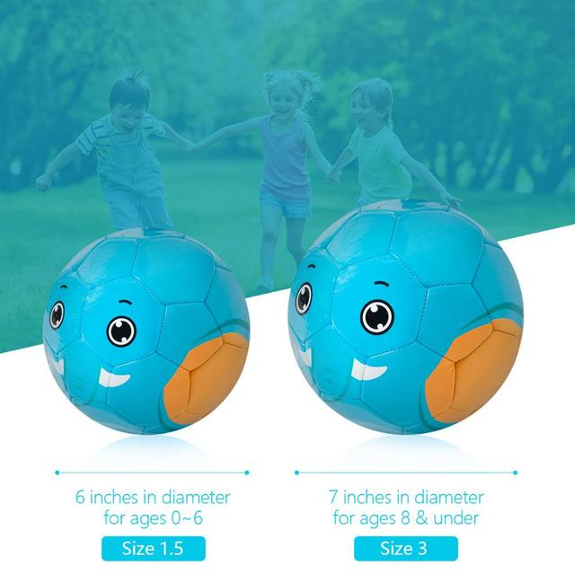 Baby Boy Football Durable 6 Mini Size Training Soccer Ball Soft Sports Toy Ball for Toddlers