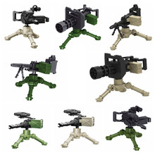 Legoing Militaire Swat Wapen Bouwstenen Guns Pack City Politie Soldaat Builder Serie WW2 Leger Accessoires MOC Baksteen Speelgoed(China)