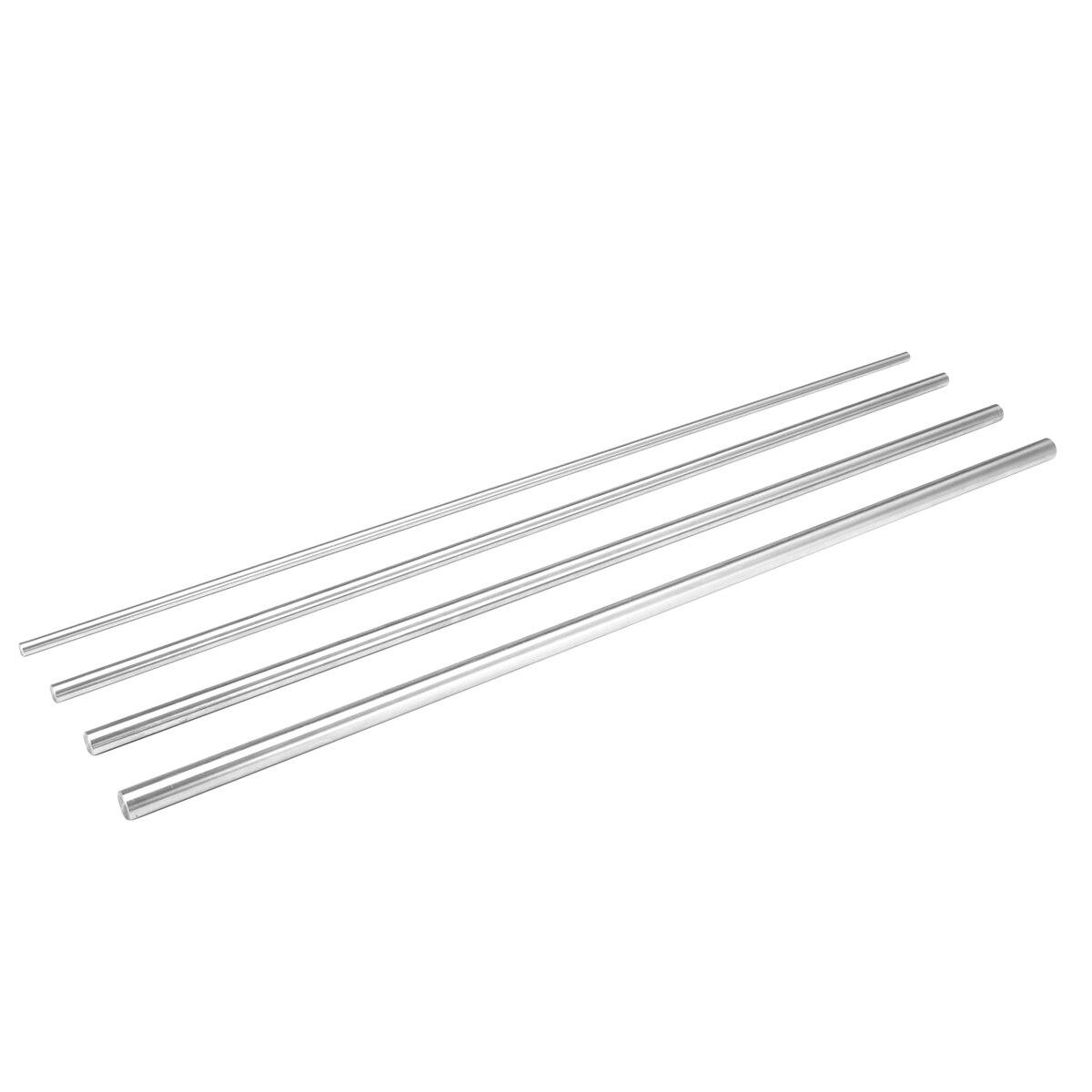 6/8/10/12 мм Dia Rod Длина линейный вал 450 мм линейный цилиндр вал рельса CNC 3D принтеры Запчасти хромированный направляющие детали