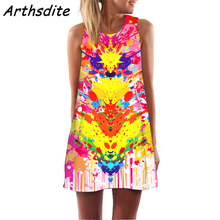 Arthsdite 2019 Sleevelss Sexy O Neck Backless Floral Print Summer Beach Dress Retro Women White Bohemian Party Midi Dresses