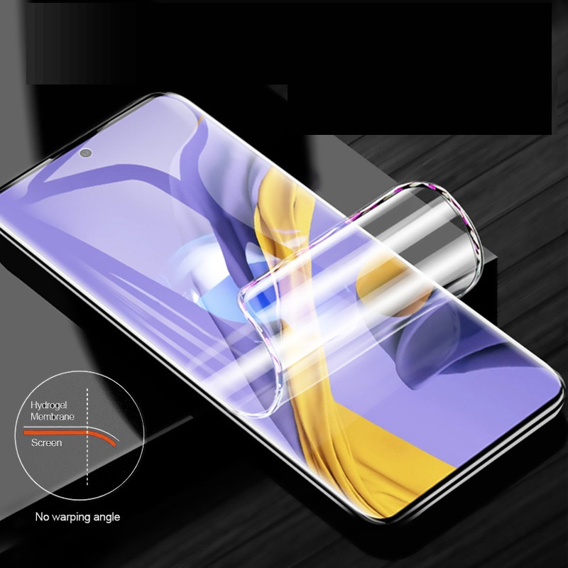 Curved Film For Samsung Galaxy A51 Screen Protector 6.5inch Full Cover Hydrogel Film With Tools Not Tempered Glass